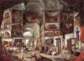 "Giovanni Paolo Pannini, ""Roman ruins and sculpture"" (1757)"
