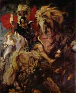 """Peter Paul Rubens, """"St. George and the Dragon"""" (1605)"""