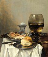 "Pieter Claesz, ""Still life with salt tub"" (1644)"