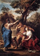 "Pompeo Batoni, ""Hercules at the crossroads"" (1750)"