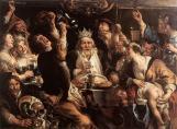"""Jacob Jordaens, """"The King drinks""""  (1640)"""