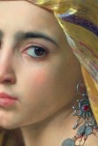 """William-Adolphe Bouguereau, """"Girl with Pomegranate"""", detail (1875)"""