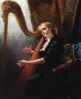 """Thérèse Schwartze, """"Playing the Harp"""" (?)"""