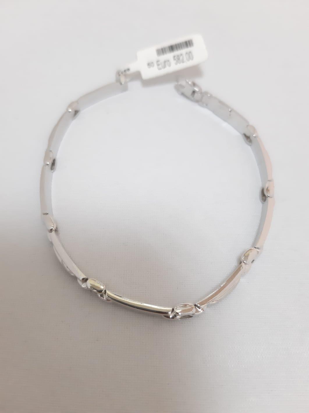 Bracciale Da Uomo In Oro Bianco 18 Carati Cod 910024342019