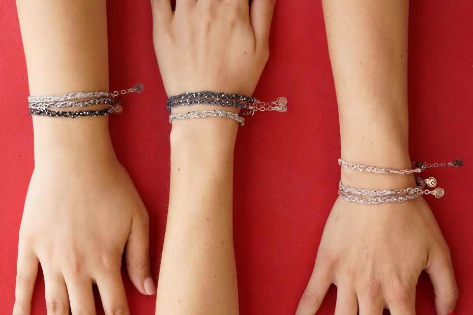 bracciale amicizia argento 925