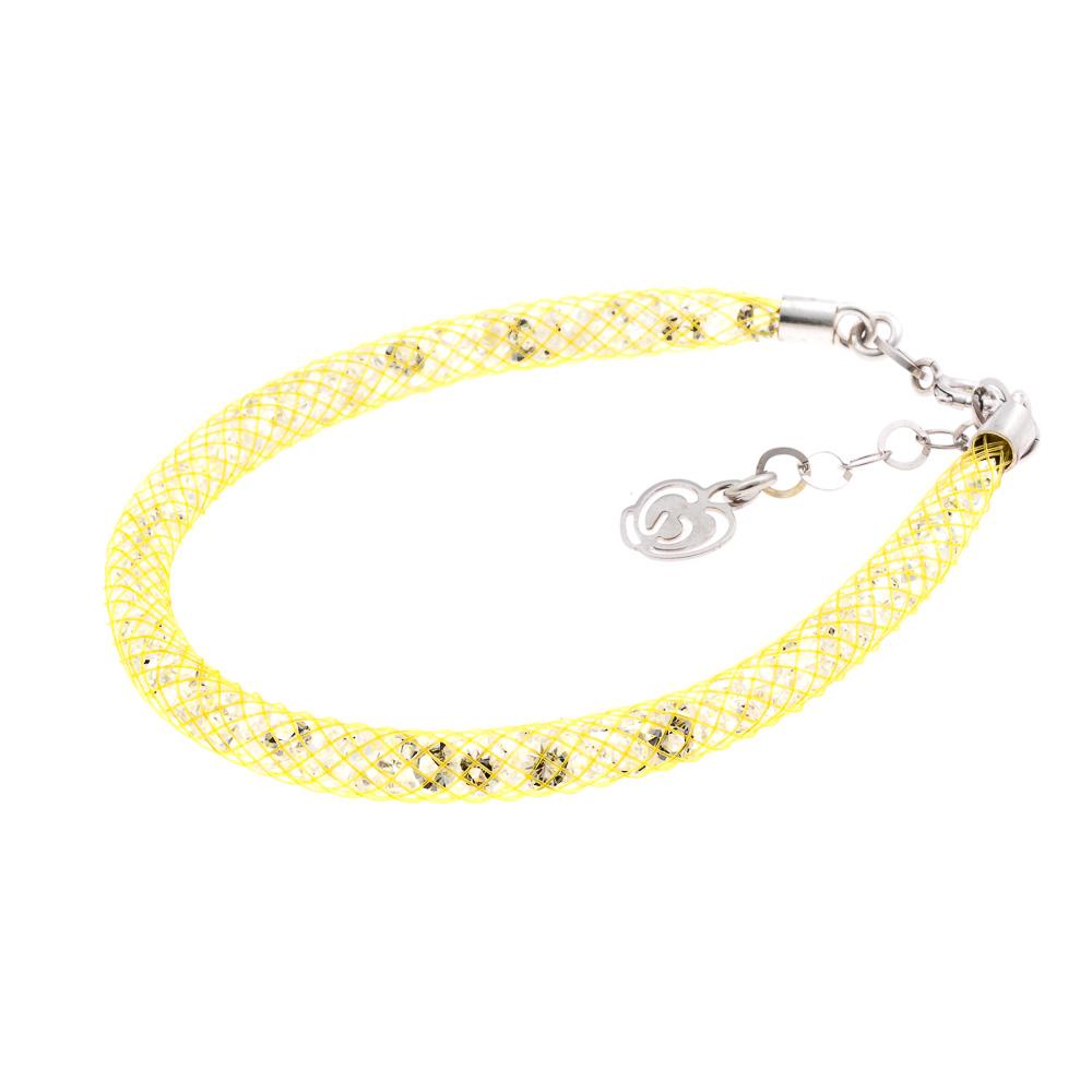 bracciale giallo argento-925-cristalli
