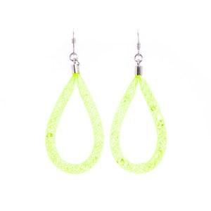 orecchini verdi pendenti a goccia