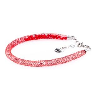 bracciale argento rosso sfumato vari cristalli