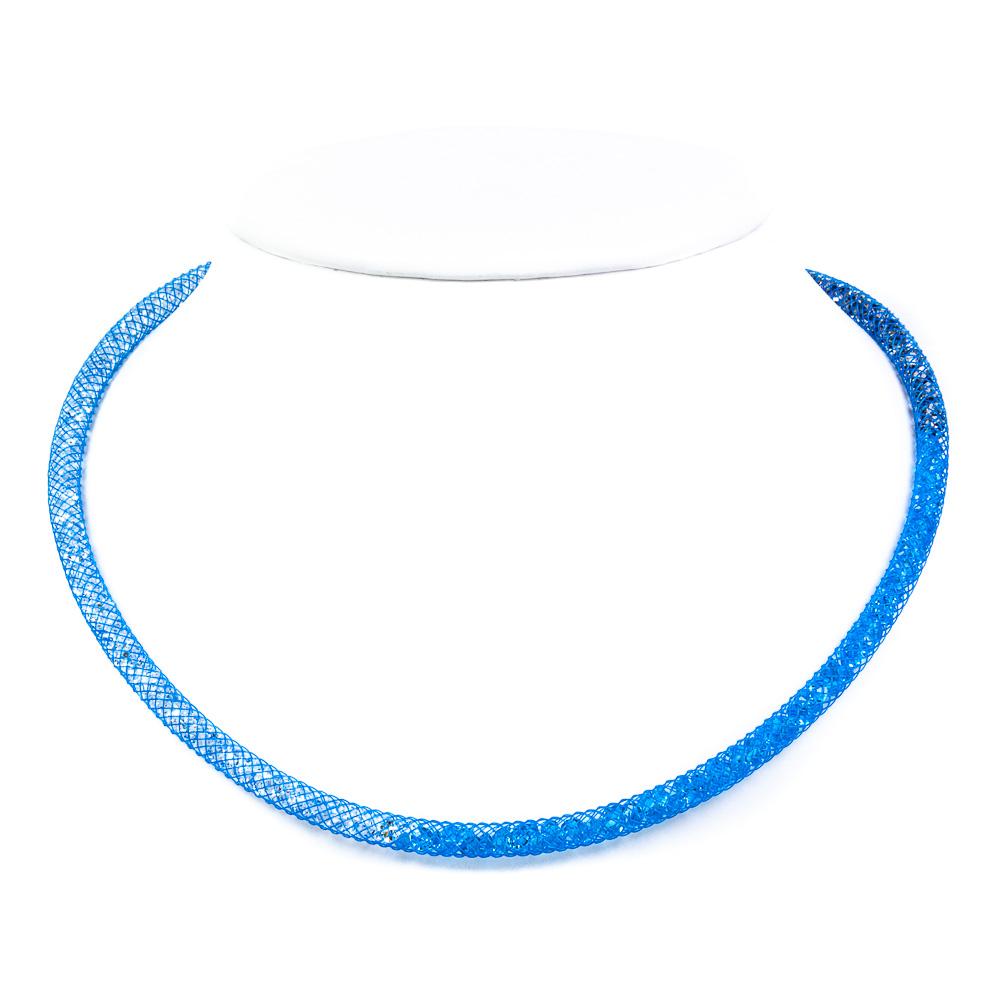 collana girocollo arcobaleno azzurro