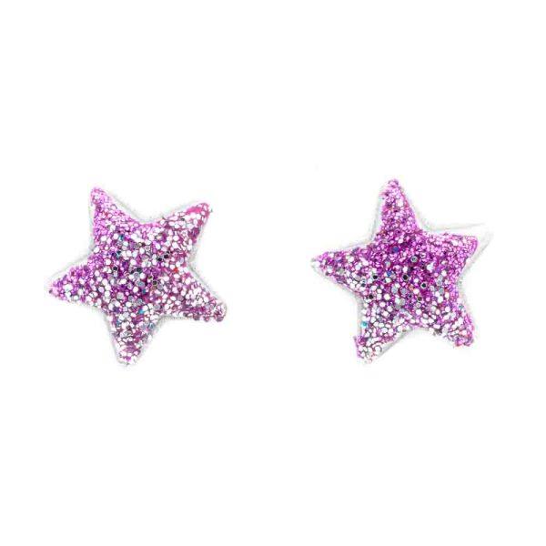 orecchino stella rosa