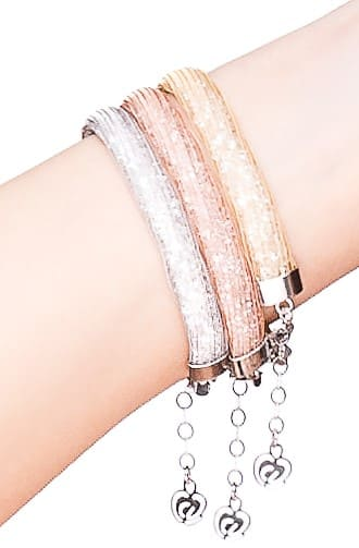 bracciali argento-925-cristalli 3 colori oro