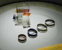 Heidemarie Herb spille, argento, acciaio, pigmenti brooch, silver, steel, pigment
