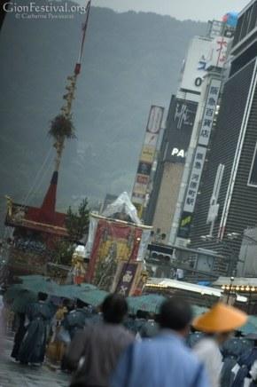 yamaboko procession yamahoko rainy gion festival parade kyoto japan