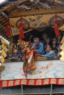 "The Hōka Boko doll ""performing"" its dance."