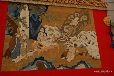 kakkyo yama taoist immortal flying dragon textile gion festival kyoto japan