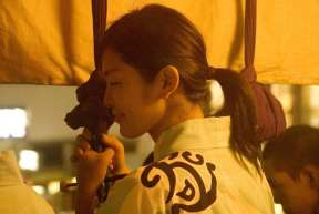Kanko Boko float gion festival woman musician