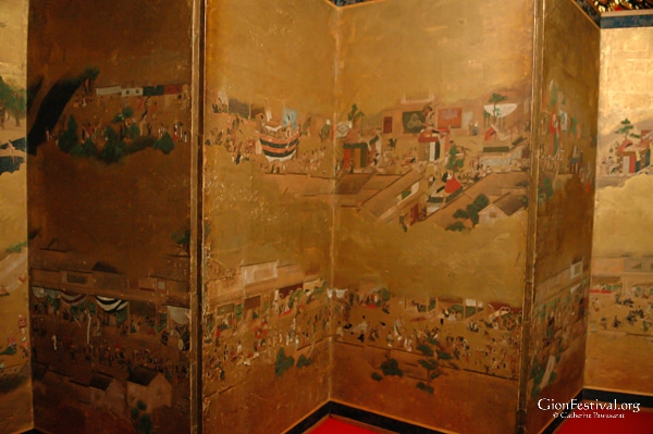 hachiman yama folding screen treasure gion festival kyoto japan