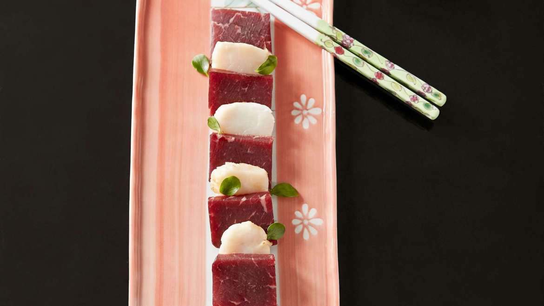 Bresaola recipe: Sashimi of Bresaola, Capa Santa, and Ponzu sauce