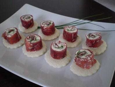 Ricetta bresaola: Sashimi di Bresaola, Capa Santa, e salsa Ponzu