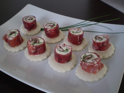 Bresaola recipe: Sashimi of Bresaola, Capa Santa, and Ponzu sauce