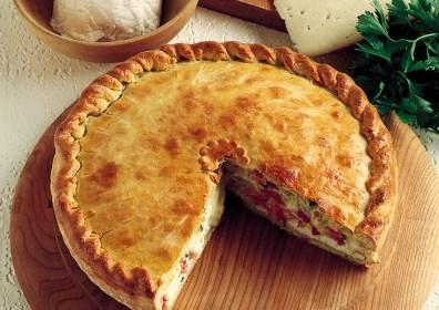 Ricetta bresaola: torta salata con tartare Giò Porro e carciofi