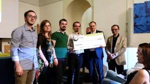 GREGORIO DE FELICE e FRANCESCO CUCARI premiano i secondi classificati