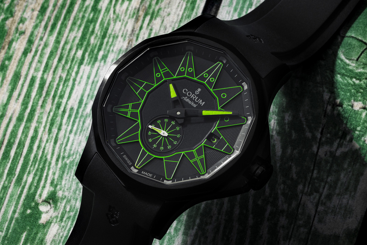 Admiral Legend 42 Automatic All Black in versione verde