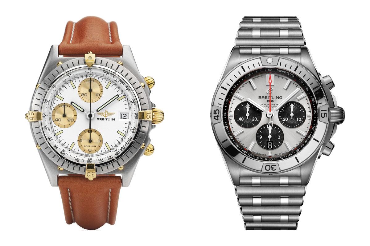 Confronto fra Breitling Chronomat del 1984 e di oggi