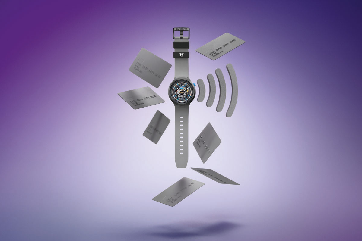 SwatchPay! grigio bold