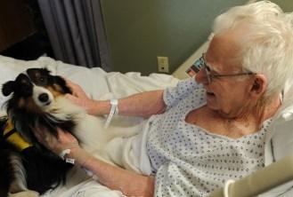 Com certeza o dia deste paciente foi bem melhor em sua internação!
