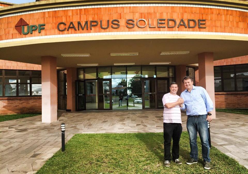 Saiu na mídia: visita à Universidade de Passo Fundo de Soledade