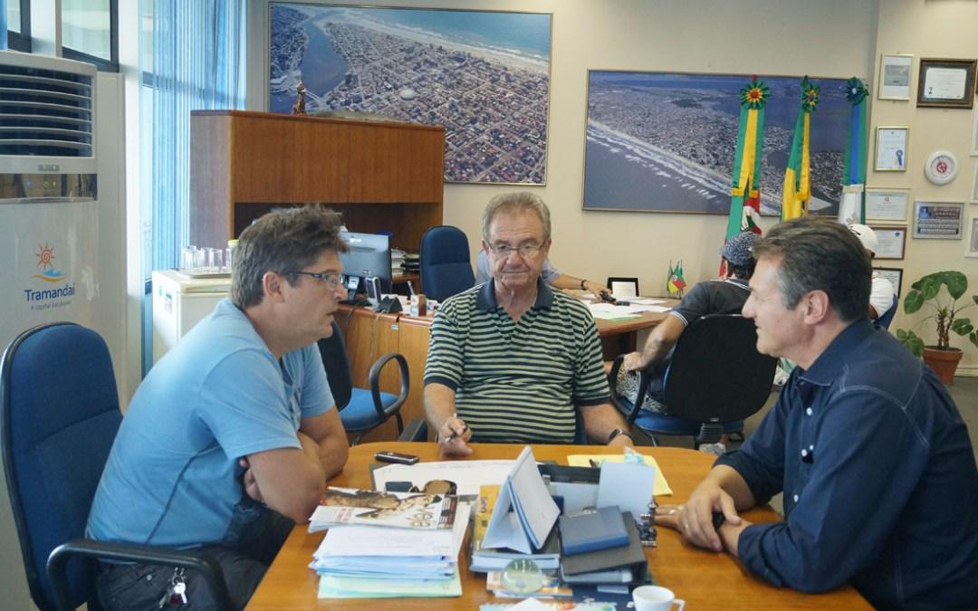 Deputado Federal Giovani Cherini visitou Tramandaí para tratar do ProJovem