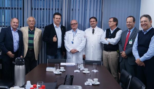 Giovani Cherini participa de reunião com diretoria do Hospital São Lucas da PUCRS