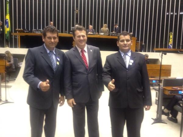 Deputado Giovani Cherini recebe vereadores de Não-Me-Toque e acompanha pleitos do município em Brasília