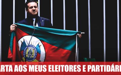 CARTA AOS MEUS ELEITORES E PARTIDÁRIOS