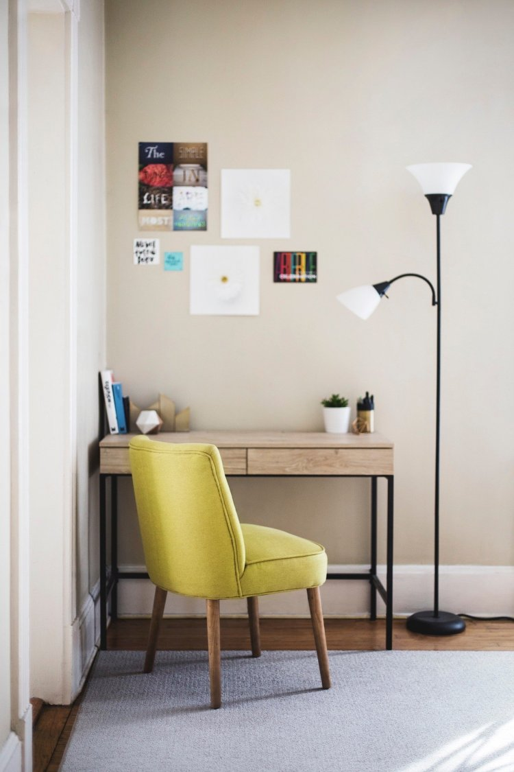 Office with chair and desk