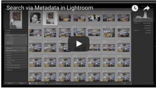 Lightroom Tutorial | Search via Metadata