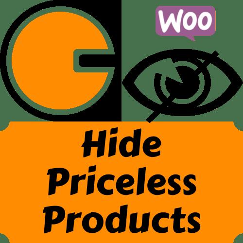 Cacher les produits sans prix