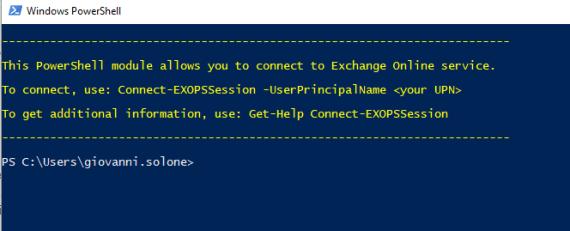 PowerShell e Multi-Factor Authentication di Microsoft