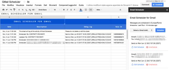Schedulare l'invio della posta (se usi GMail)