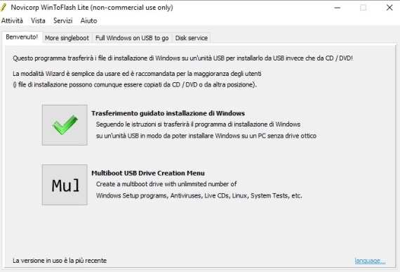 Installare Windows da chiave USB (WinToFlash) 3