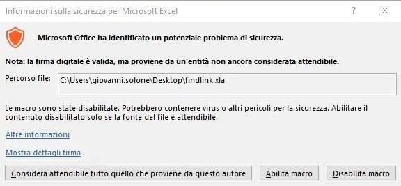 Excel: eliminare collegamenti ad altre cartelle quando non funziona l'interruzione 4