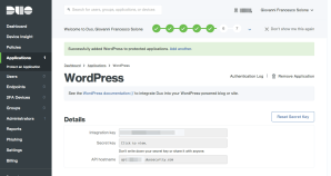 WordPress: migrazione da Authy OneTouch a Duo 2