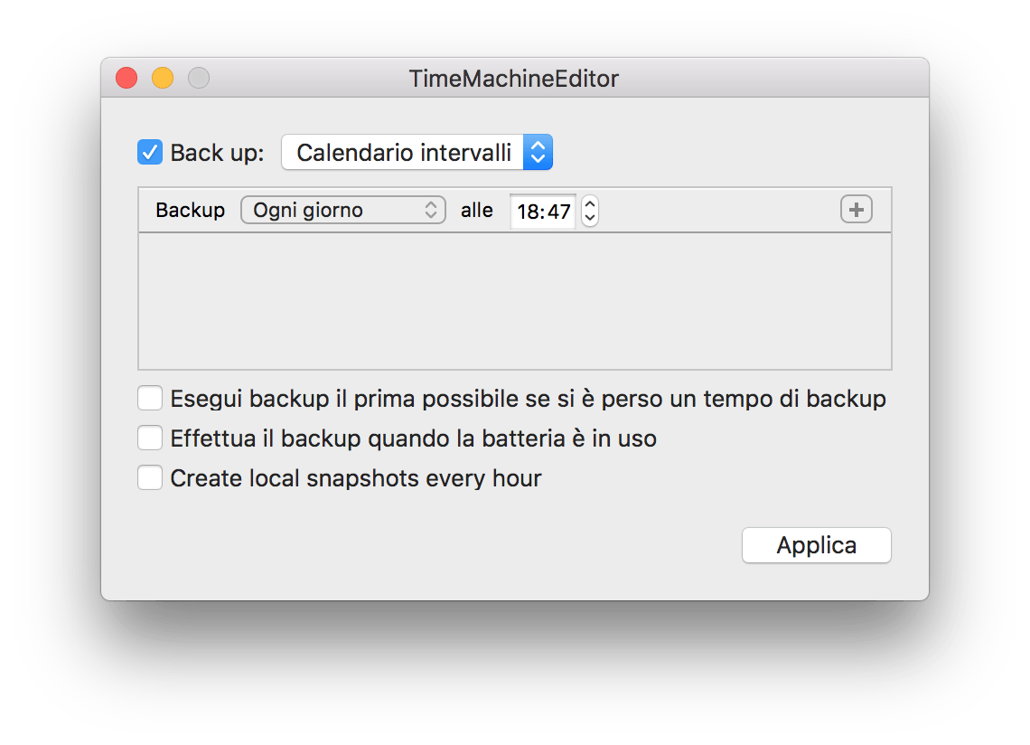 macOS: modificare la schedulazione di Time Machine 4
