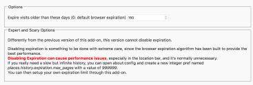 Firefox: snellire la cronologia pulendola automaticamente 4