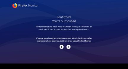 Firefox Monitor ti avvisa in caso di furto credenziali 2