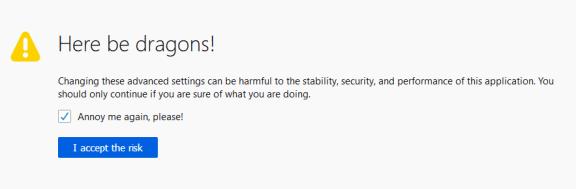 Firefox: Addio agli screenshot, benvenuto nuovo about:config! 4