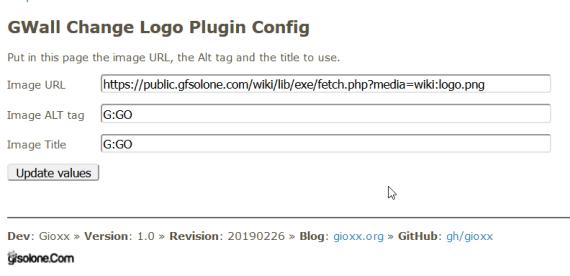 YOURLS: cambiare il logo con un plugin (GWallChangeLogo) 2