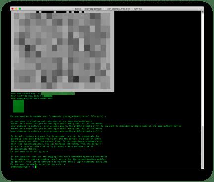 Raspberry: abilitare la 2FA per collegarsi in SSH 3