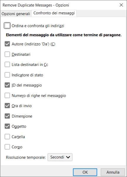 Mozilla Thunderbird: cancellare le email duplicate 4